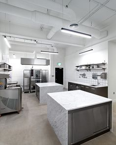 The state-of-the-art kitchen features sizeable marble counters