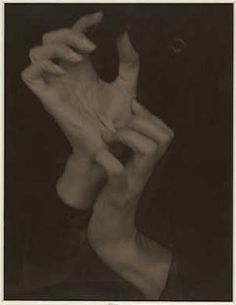 Georgia O'Keeffe--Hands, 1919 by Alfred Stieglitz. Gift of The Georgia O'Keeffe Foundation in honor of Georgia O'Keeffe and on the occasion of the Anniversary of the National Gallery of Art. Hand Photography, History Of Photography, Creative Photography, Modern Photography, Alfred Stieglitz, Untitled Film Stills, Georgia O'keeffe, Laszlo Moholy Nagy, Modern Portraits