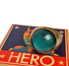 AUTHENTIC MOOD RING 1960s Glass Fancy by cOveTableCuriOsitiEs, $24.00