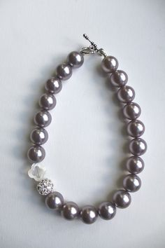 NEW FOR FALL - The Madison necklace.  Large pearl statement necklace.. $85.00, via Etsy.