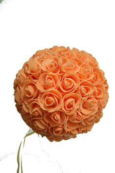 9 Inches Orange Rose Ball Pomander Kissing ball (USA Seller Fast Shipping) by FeatherParadise on Etsy