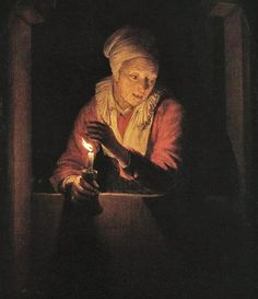 Gerrit van Honthorst (Dutch painter, 1590–1656) Old Woman with a Candle