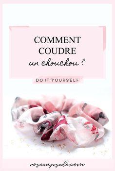 DIY : Comment coudre un chouchou- Rose Capsule Coin Couture, Couture Sewing, Couture Fashion, Diy Fashion, Fashion Ideas, Mens Fashion Online, Creation Couture, Refashion, Scrunchies