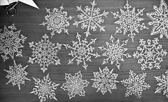 from half-way around the world emailed black & white photographs of his beautiful hand-cut snowflakes. I'm so happy to have received these and to share them with you f Snowflake Cutouts, Snowflake Template, Crochet Snowflakes, Paper Snowflakes, Christmas Snowflakes, Christmas Paper, Christmas And New Year, All Things Christmas, Kirigami