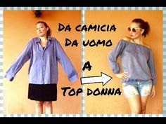 Come trasformare una CAMICIA da uomo in un TOP donna -Tutorial by Diana Toto - YouTube