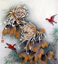 Japanese Woodcut, Japanese Art, Chinese Painting, Chinese Art, Watercolor Flowers, Watercolor Paintings, Lotus Flower Art, Oriental Flowers, Japan Painting