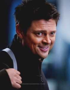 """Karl Urban, Almost Human - Not sure what episode this is from but that face just makes me go """"Awwwww!"""""""