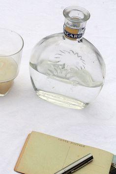 Original Vintage French Ricard Glass Bottle - 1950s