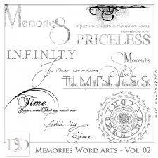 Memories Word Arts Vol 02 by D's Design  #CUdigitals cudigitals.com cu commercial digital scrap #digiscrap scrapbook graphics