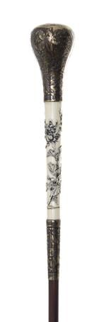 An American Silver and Japanese Ivory Handled Ladys Walking Stick | Leslie…