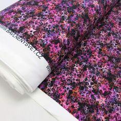HVĚZDIČKY - krásný úplet na šaty, trička, sukně atd...