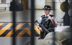 British Metropolitan Police officer with HK MP5A3 (A5?). NOTE That is something new in the U.K. and I guess it will continue because it has gotten out of hand there like it is in our country.