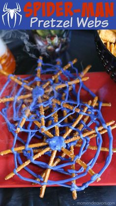 Spider-Man Pretzel Web Snacks