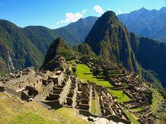 Beautiful view of Machu Picchu ruins on sunny day, Peru