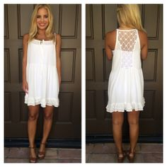Always And Forever Lace Back Dress - WHITE | Dainty Hooligan Boutique