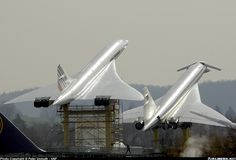 Concorde and the Russian Tu-144 on display together in Germany. Courtesy of Airliners.net