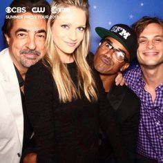 CBS CW Showtime Summer Press Tour 2013-2014 || Joe Mantegna, A.J. Cook, Shemar Moore and Matthew Gray  Gubler