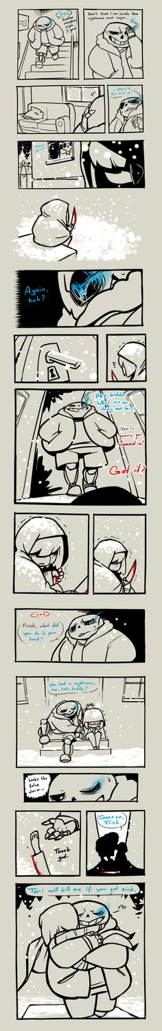 Undertale - Shared Nightmare by MadCookiefighter --- Undertale, Sans and Frisk