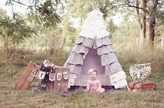 Okay I love the picture and the baby is adorable but I want to make a ruffle teepee.