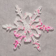 Mt. Hope crochet snowflake by Snowcatcher for breast cancer awareness