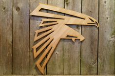 Atlanta Falcons logo wood cut wall hanging sign by ArrayOfDelight