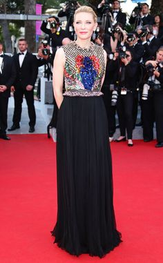 Cate Blanchett wears a striking Givenchy gown. Love it!