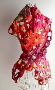 Loopy scarf 3 by ArcEnCielcreations, via Flickr