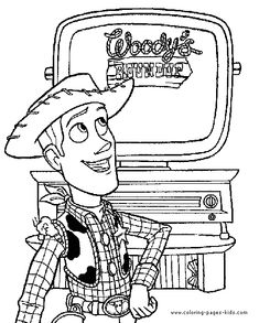 Toy Story Coloring Page Disney Pages Color Plate Sheetprintable Picture