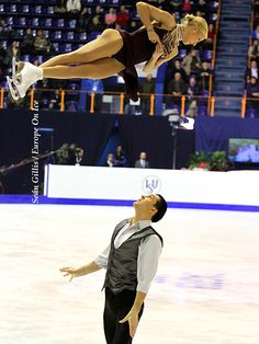 Talk about height in that throw!      European Figure Skating Championships 2013: Volosozhar & Trankov