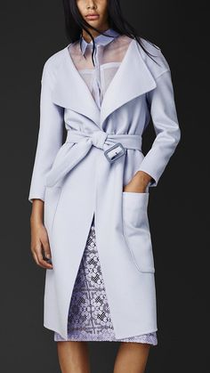 Burberry lavender angora-and-wool belted coat ($2,595) | The Perfect Spring Coat? Pastel! | POPSUGAR Fashion