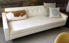 White leather couch Howell Furniture, White Leather, Love Seat, Couch, Home Decor, Settee, Decoration Home, Sofa, Room Decor