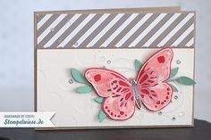 Inspiration & Art - Stampin' Up! - Farbchallenge - Grußkarte - Watercolor Wings ❤ Stempelwiese