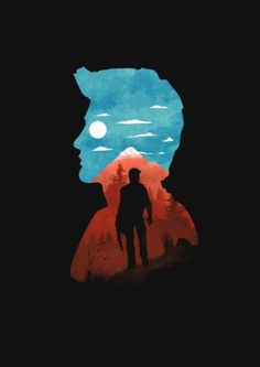 Nathan Drake Art Print by Steven Toang - X-Small Drake Art, Mini Toile, Uncharted Series, Nathan Drake, Red Dead Redemption, Silhouette Art, Video Game Art, Of Wallpaper, Art Inspo