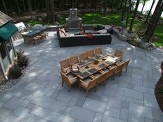 Lake Front Dining Table www.landscapingnetwork.com