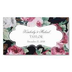Vintage Flower Garden Wedding (Pink / Black) Tags Double-Sided Standard Business Cards (Pack Of 100). I love this design! It is available for customization or ready to buy as is. All you need is to add your business info to this template then place the order. It will ship within 24 hours. Just click the image to make your own!