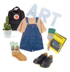 """""""An Artist's Dress Up"""" by hxdor ❤ liked on Polyvore featuring Fjällräven, Toast, HOT SOX and Dr. Martens"""