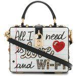 Dolce & Gabbana Graffiti Box Bag with Embellishment