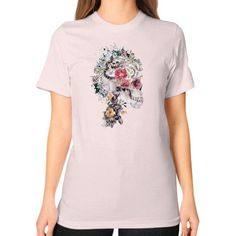 Skull XI Unisex T-Shirt (on woman)