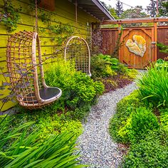 A Narrow Side Yard Previously Just Thoroughfare Becomes Super Sweet Hideout