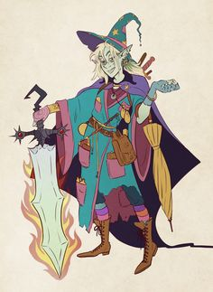 "weaselbusiness: "" One Flaming, Poisoning, Raging Sword of Doom. For fashion purposes only, of course. Head cannon: Magnus shoves all his items into one big backpack and immediately forgets they exist but Taako keeps everything he owns stashed in..."