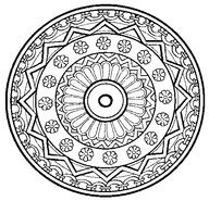Difficult Mandala Coloring Pages | Difficult Mandala Coloring Pages Printable