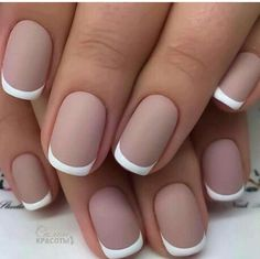 Matte French manicure