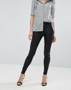 New Look Coated Skinny Jeans by asos