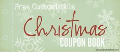 Give the gift that keeps on giving with this coupon book. It's been created so you can personalize your own coupons. Great pictures inside. www.beautyandbedlam.com