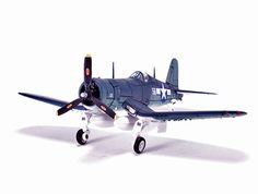Vought F4U 1D Corsair Diecast Model Airplane. It is made by Forces Of Valor and is 1:72 scale (approx. 16cm / 6.3in wingspan).