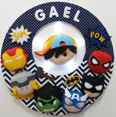 Name Banners, Avengers, Plates, Tableware, Proper Nouns, Felt Garland, Best Gifts, Woven Cotton, Painted Walls