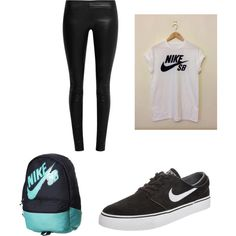 Nike by luluheiz on Polyvore featuring polyvore fashion style The Row NIKE