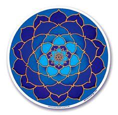 Blue Moon Lotus Sticker