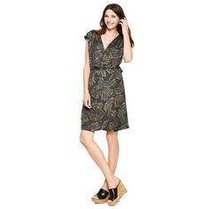 C. Wonder Scroll Print Belted Wrap Dress Size Xs