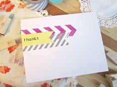Handmade Thank You Card, 4 pack
